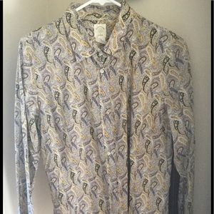 J.Crew limited edition shirt paisley size 12